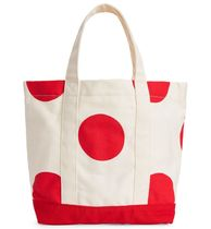"""ARKET(アーケット) 子供用トート・レッスンバッグ """"ARKET KIDS"""" Canvas Tote Bag OffWhite/Red"""