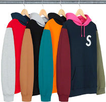 SUPREME19SS★S Logo Colorblocked Hooded Sweatshirt