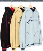 SUPREME19SS★Contrast Embroidered Hooded Sweatshirt