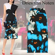 【19SS】★Dries Van Noten★Printed cotton midi skirt