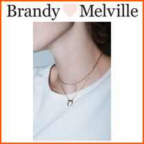 ☆Brandy Melville☆Gold Double Chain Crescent Charm Necklace