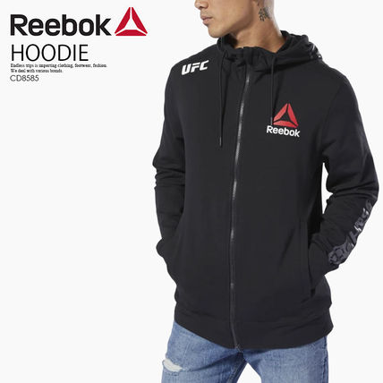 即納*日本未入荷★Reebok*UFC FIGHT NIGHT BLANK WALKOUT HOODIE