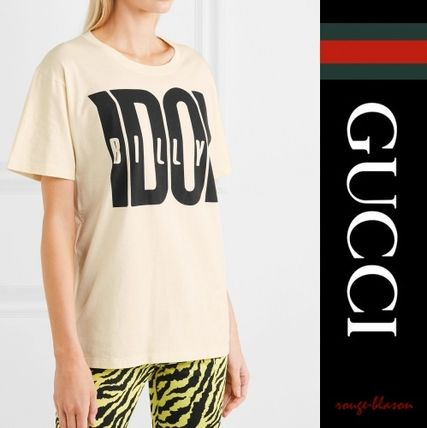 GUCCI Tシャツ・カットソー 【国内発送】GUCCI Tシャツ  Billy Idol printed cotton T-shirt