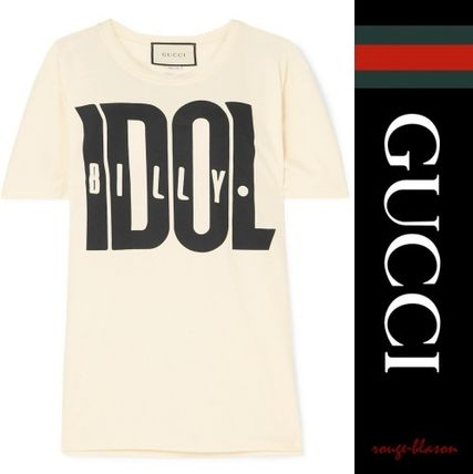GUCCI Tシャツ・カットソー 【国内発送】GUCCI Tシャツ  Billy Idol printed cotton T-shirt(4)