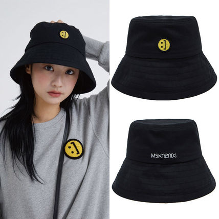 MSKN2ND ハット ★MSKN2ND★日本未入荷 韓国 バケットハット E BUCKETHAT BLACK