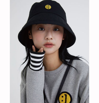 MSKN2ND ハット ★MSKN2ND★日本未入荷 韓国 バケットハット E BUCKETHAT BLACK(2)