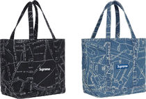 SUPREME19SS★GONZ MAP DENIM TOTE