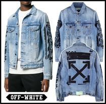 イベント/関税込★Off-White★VINTAGE WASHED SLIM DENIM JACKET