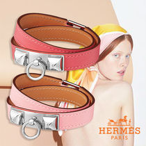 HERMES★ Rivale Double Tour bracelet ブレスレット ピンク系♪
