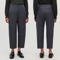 """COS"" TWISTED-SEAM WOOL TROUSERS DARKGRAY"