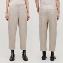 """COS"" WOOL TWISTED-SEAM TROUSERS TAUPE"