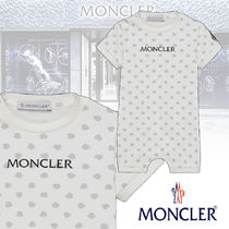 【MONCLER】ROMPERS ロゴ入り コットンジャージー ロンパース