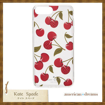 【kate spade】チェリー柄, さくらんぼ柄 iPhone6/7/8用ケース