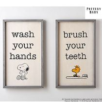 Pottery Barn☆Peanuts Bathroom Art☆2組セット☆税送込☆O