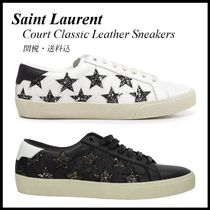 *SAINT LAURENT*Court Classic Leather Sneakers 関税/送料込