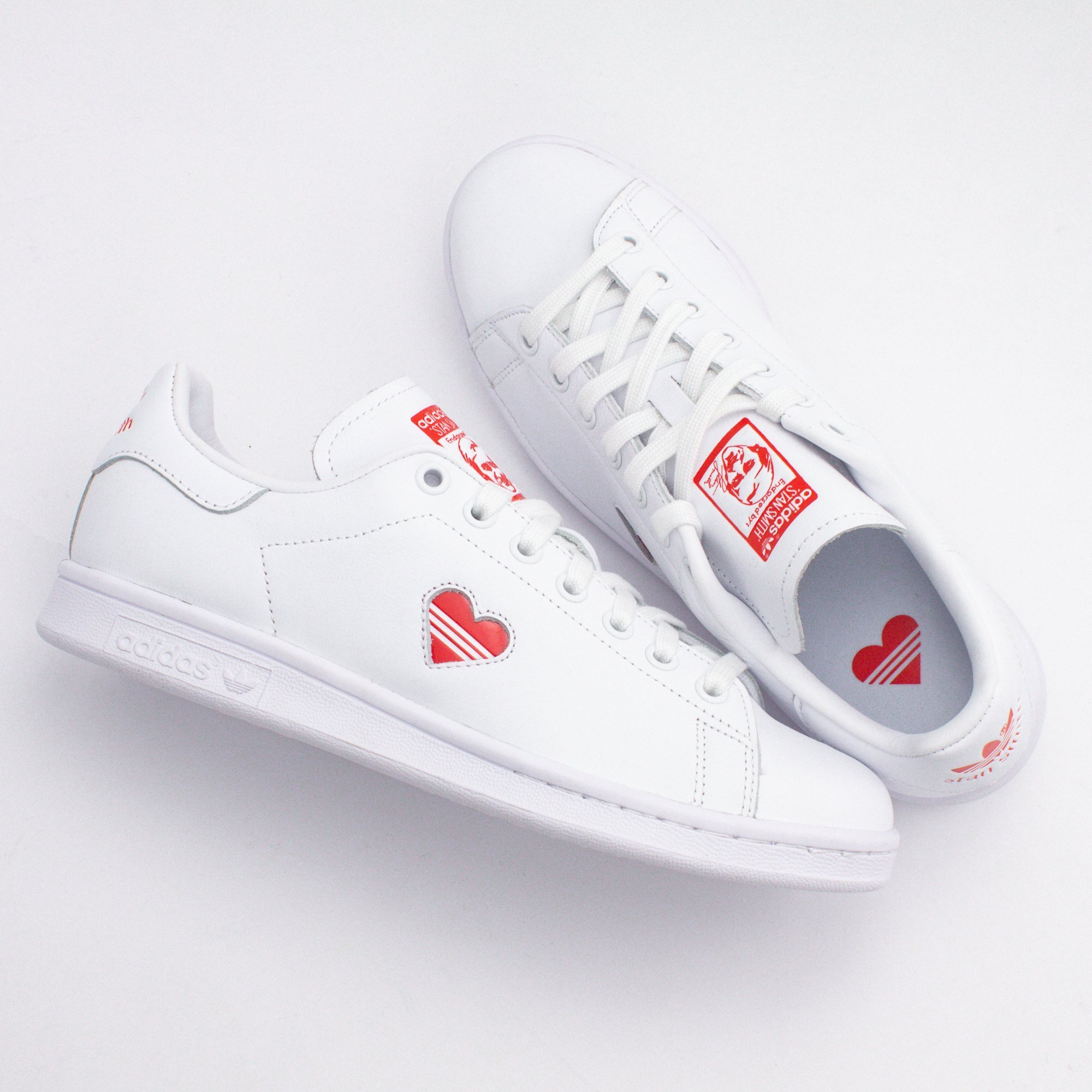 adidas STAN SMITH 2019 SS Heart Casual Style Unisex Street Style Plain Leather (G27893)