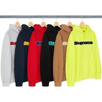 1 WEEK Supreme SS 19 Chenille Hooded Sweatshirt