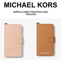 【Michael Kors】Saffiano Leather 手帳型 ★ iPhone 7/8 ケース
