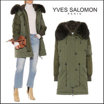 YVES SALOMON(イヴサロモン) ムートン・ファーコート YVES SALOMON★Fur-trimmed parka coat