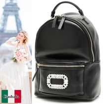 Roger Vivier BACKPACK WITH CRYSTAL BUCKLE