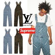 FW17 Supreme × Louis Vuitton Jacquard Denim Overalls