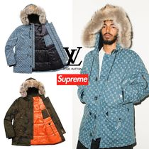 FW17 Supreme × Louis Vuitton Jacquard Denim N-3B Parka