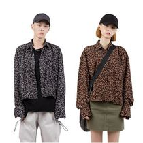 大人気!【Raucohouse】silky leopard crop shirts/男女兼用