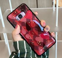 Galaxy s9 s9plus S8 S8plus note8 note9 ハート 赤 白