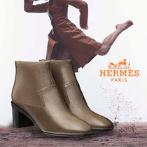 HERMES直営店★Selma ankle boot アンクルブーツ (gris galet)