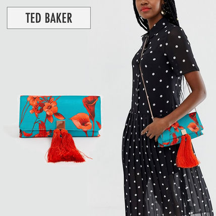 【TED BAKER】Darlee  花柄 プリント クラッチバック