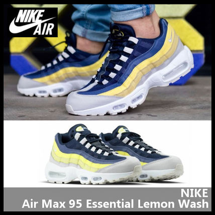half off b48e1 41827 Nike Air Max 95 Essential Lemon Wash Men New Shoes Mens Grey Sneakers 749766 -107 Men s Shoes