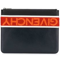 GIVENCHY ジバンシィTerry-Flock Logo Clutch Bagクラッチバッグ