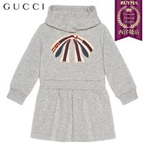 【正規品保証】GUCCI★19春夏★BABY COTTON DRESS GUCCI STRIPE