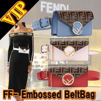 "◆◆VIP◆◆ FENDI  ""FF- Monogram - Embossed"" Belt 3Way Bag"