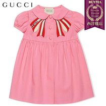 【正規品保証】GUCCI★19春夏★BABY POPLIN DRESS WITH BOW