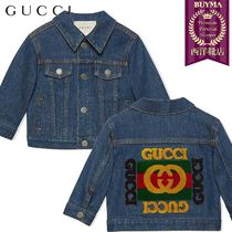 【正規品保証】GUCCI★19春夏★BABY DENIM JACKET W GUCCI LOGO