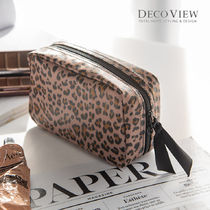 DECO VIEW(デコヴュー) メイクポーチ [DECOVIEW]スクエアポーチ#レオパード★Sqaure Cometic Pouch~♪