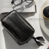 DECO VIEW(デコヴュー) メイクポーチ [DECOVIEW]スクエアポーチ#パイソン★Sqaure Cometic Pouch~♪