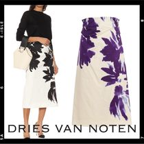 2019SS【Dries Van Noten】high-waist print midi skirt