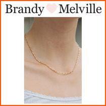 NEW!! ☆Brandy Melville☆ GOLD RECTANGLE CHAIN LINK NECKLACE