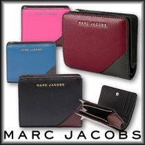 MARC JACOBS★サフィアーノ★メタルロゴ★コンパクトウォレット