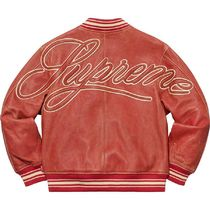 SUPREME シュプリーム Leather Varsity Jacket SS 19 WEEK 0