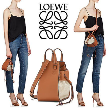 LOEWE ロエベ ミニハンモック Mini Hammock Dw Bag Tan/Natural