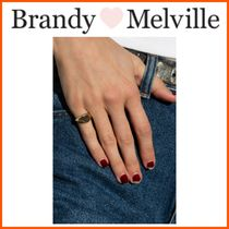 NEW!!  ☆Brandy Melville☆ GOLD SIGNET RING