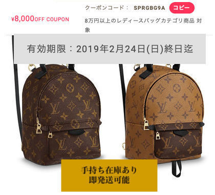 Louis Vuitton ルイヴィトン パームスプリングス バックパック