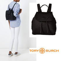 SALE!Tory Burch シンプル ロゴ入 Scout ナイロン バックパック