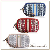 国内発送◆Tory Burch Gemini Link Canvas Wristlet ポーチ