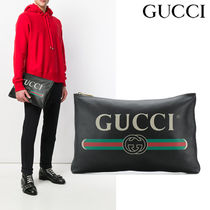 【GUCCI】プリント クラッチバッグ