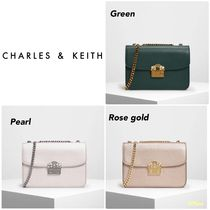 【Charles&Keith】EMBELLISHED PUSH LOCK CLUTCH