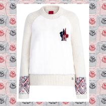MONCLER GAMME ROUGE ファーアルパカウールホワイトニット
